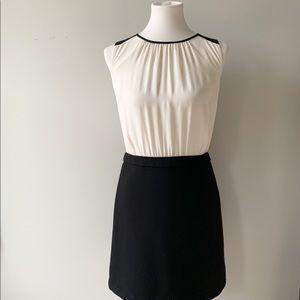 Ann Taylor LOFT Sleeveless Cream and Black Dress